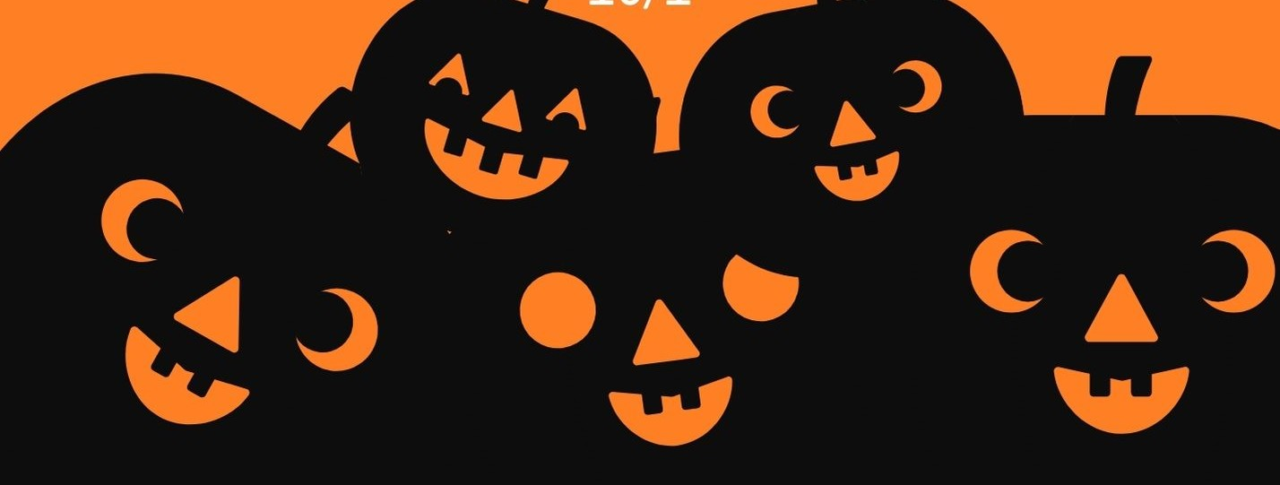 Orange And Black Spooky Trick Or Treat Halloween Flyer