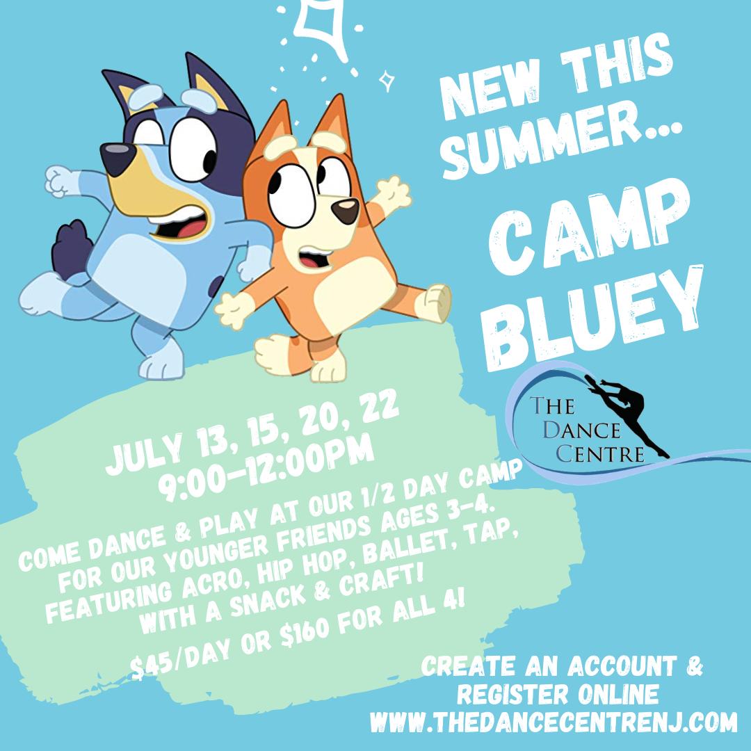 Bluey Dance Camp South toms River